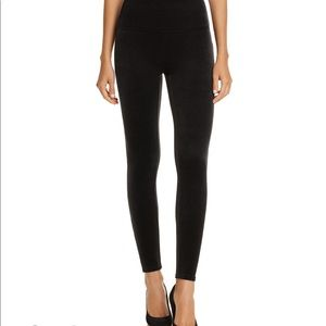 Spanx Black Velvet Legging Large